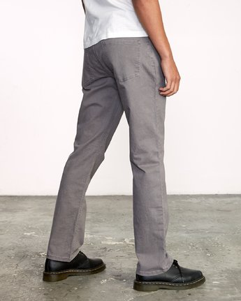 5 week-end 5-Pocket straight fit Pant Grey M310VRWP RVCA