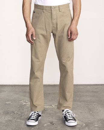 0 Week-End 5-Pocket Pant Beige M310VRWP RVCA
