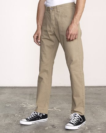 1 WeekEnd 5-Pocket straight fit Pant White M310VRWP RVCA