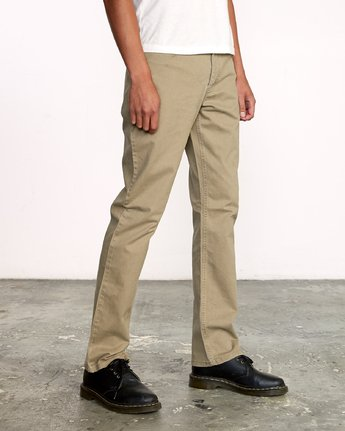 6 WeekEnd 5-Pocket straight fit Pant White M310VRWP RVCA