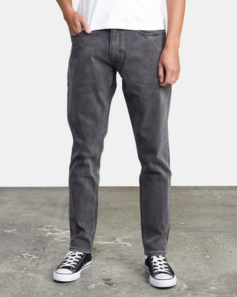 1 DAGGERS SLIM FIT DENIM Grey M3113RDA RVCA