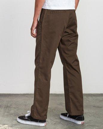 3 Americana Chino Pant Brown M311VRAC RVCA