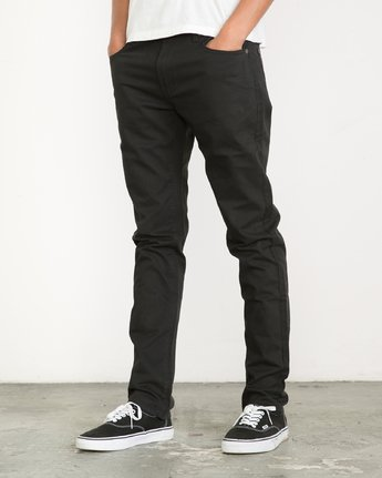 2 Daggers Slim-Straight Twill Pants Black M313VRDT RVCA