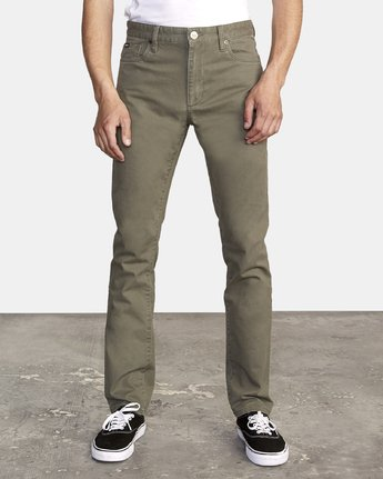 2 Daggers Slim-Straight Twill Pants Green M313VRDT RVCA