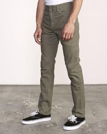 3 Daggers Slim-Straight Twill Pants Green M313VRDT RVCA