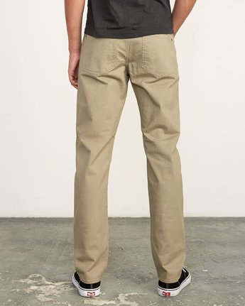 2 Daggers Slim-Straight Twill Pants White M313VRDT RVCA