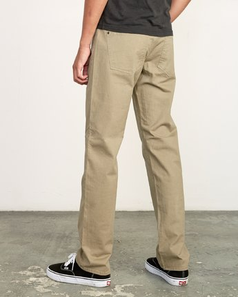4 Daggers Slim-Straight Twill Pants White M313VRDT RVCA