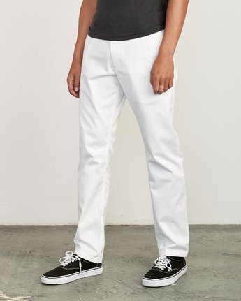 0 week-end Stretch straight fit Pant White M314VRWS RVCA