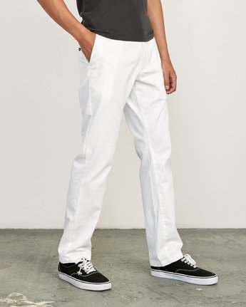 4 week-end Stretch straight fit Pant White M314VRWS RVCA