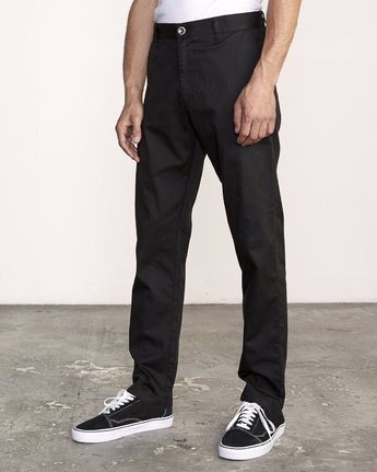 2 WeekEnd Stretch straight fit Pant Black M314VRWS RVCA