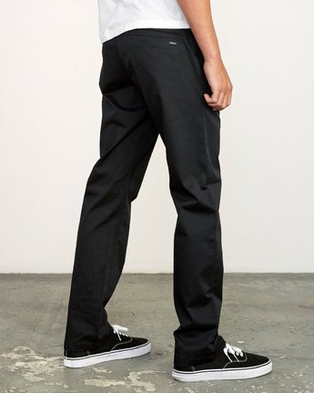 4 week-end Stretch straight fit Pant Black M314VRWS RVCA