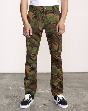 0 week-end Stretch straight fit Pant Brown M314VRWS RVCA
