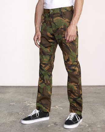 1 week-end Stretch straight fit Pant Brown M314VRWS RVCA