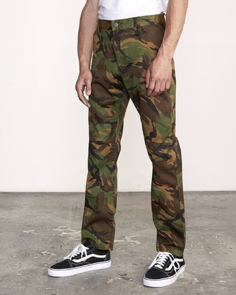 3 week-end Stretch straight fit Pant Brown M314VRWS RVCA