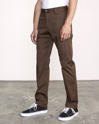 1 WeekEnd Stretch straight fit Pant Brown M314VRWS RVCA