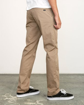 4 week-end Stretch straight fit Pant Grey M314VRWS RVCA