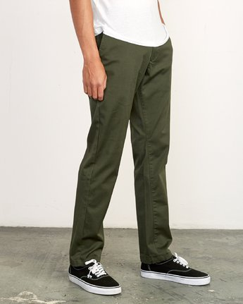 4 WeekEnd Stretch straight fit Pant Green M314VRWS RVCA