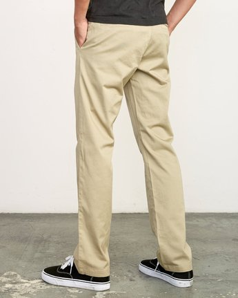 3 week-end Stretch straight fit Pant Beige M314VRWS RVCA