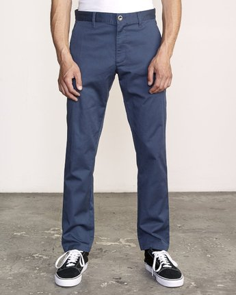 0 WeekEnd Stretch straight fit Pant Blue M314VRWS RVCA