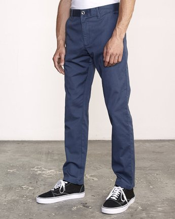 2 week-end Stretch straight fit Pant Blue M314VRWS RVCA
