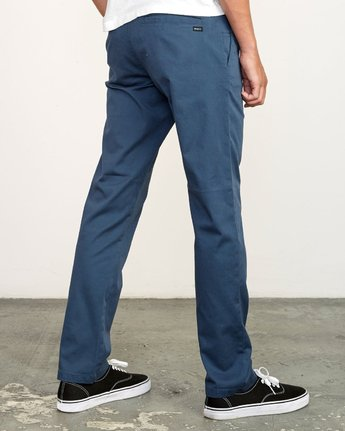 4 week-end Stretch straight fit Pant Blue M314VRWS RVCA