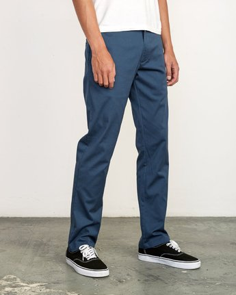 5 week-end Stretch straight fit Pant Blue M314VRWS RVCA