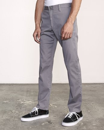 2 WeekEnd Stretch straight fit Pant Grey M314VRWS RVCA