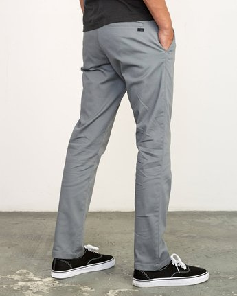 4 WeekEnd Stretch straight fit Pant Grey M314VRWS RVCA