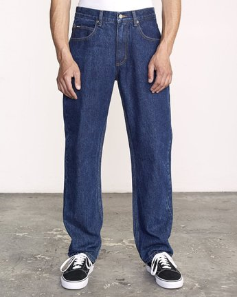 0 Americana Relaxed Fit Denim Blue M321VRAM RVCA