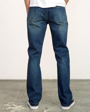 4 Weekend Straight Fit Jeans Blue M323VRWK RVCA