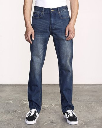 0 Weekend Straight Fit Jeans Blue M323VRWK RVCA