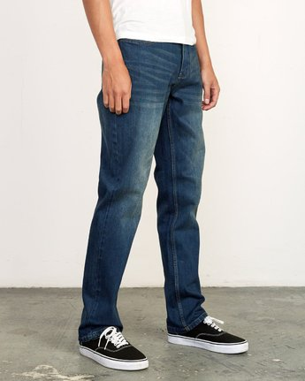 6 Weekend Straight Fit Jeans Blue M323VRWK RVCA