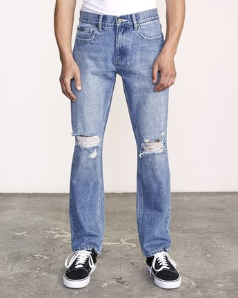 0 week-end STRAIGHT FIT Denim Grey M323VRWK RVCA
