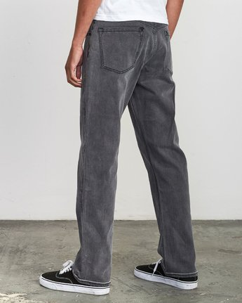 3 Weekend Straight Fit Jeans Grey M323VRWK RVCA