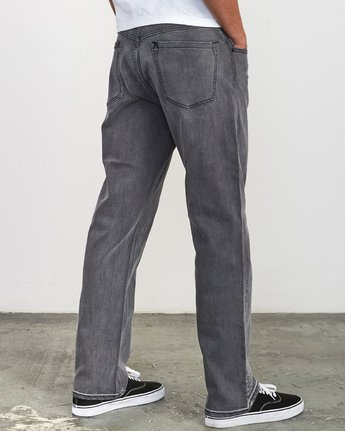 5 Weekend Straight Fit Jeans Grey M323VRWK RVCA