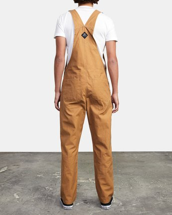 3 CHAINMAIL RELAXED FIT OVERALL Brown M3263RNH RVCA