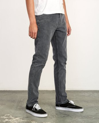 6 Daggers Slim Fit Denim Grey M327VRDA RVCA