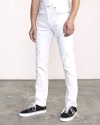 1 Daggers Slim Fit Denim White M327VRDA RVCA