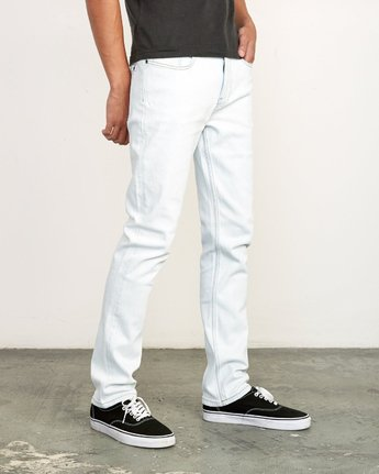 6 Daggers Slim Fit Denim White M327VRDA RVCA