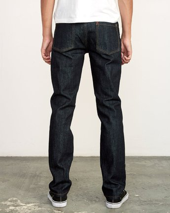 4 Hexed Slim Fit Jeans Blue M328VRHD RVCA