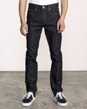 0 Hexed Slim Fit Jeans Blue M328VRHD RVCA