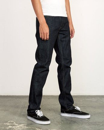 6 Hexed Slim Fit Jeans Blue M328VRHD RVCA