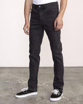1 Hexed Slim Fit Jeans Black M328VRHD RVCA