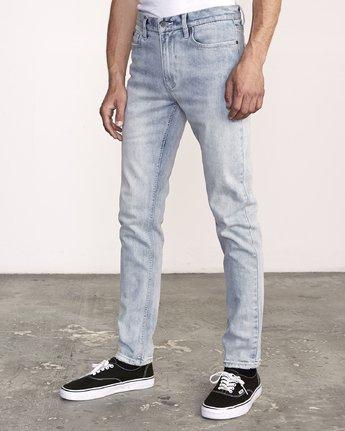2 RVCA Rockers Skinny Jeans Beige M329VRRD RVCA
