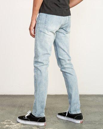 3 RVCA Rockers Skinny Jeans Beige M329VRRD RVCA