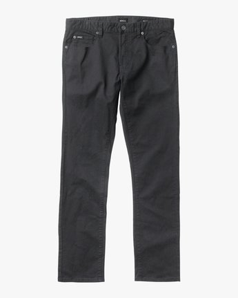 6 Daggers Slim-Straight Twill Pants Black M3301DAG RVCA