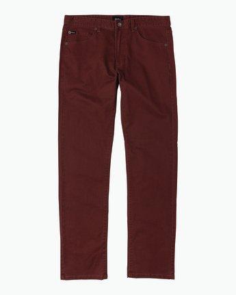6 Daggers Slim-Straight Twill Pants Red M3301DAG RVCA