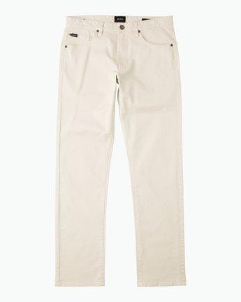 6 Daggers Slim-Straight Twill Pants Silver M3301DAG RVCA