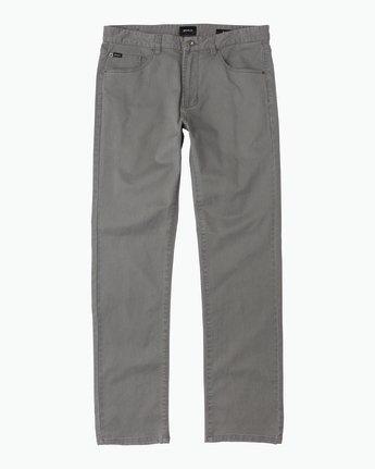 6 Daggers Slim-Straight Twill Pants Grey M3301DAG RVCA