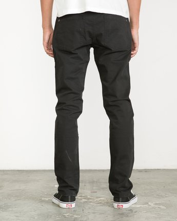 3 Daggers Slim-Straight Twill Pants Black M3301DAG RVCA